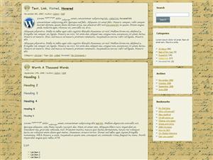 תבנית וורדפרס בלוג-טקסט