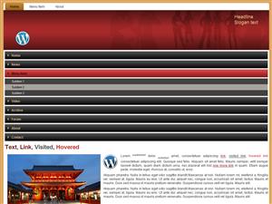 Red1Col WordPress theme